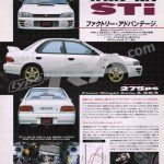 MY95 Impreza WRX Type RA STi Version Brochure