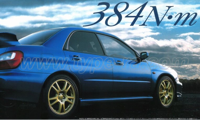 Impreza STi V2 option sheet & price list - Subaru Impreza ...