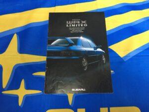 MY00 WRX RA, STi RA, STi Wagon And Type R Limited Brochure